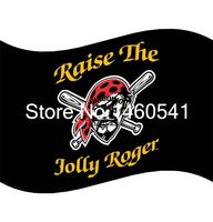 Pittsburgh Pirates Nâng Cao Jolly Roger Cờ 3ft x 5ft Polyester MLB Banner Bay Kích No.4 4 144*96 cm QingQing C