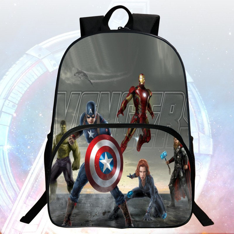 New Style 16 inch Prints Cool Hero Hulk Kids School Bags Avengers Students Backpack Child Mochila Bag Boys School Backpacks