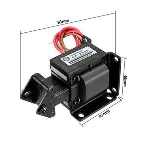 Uxcell Новый горячий Электромагнит 220 В переменного тока 14.7N/0,5 кг/3 кг 10/15/25 мм Pull Push Type открытый каркас линейный Электромагнит движения