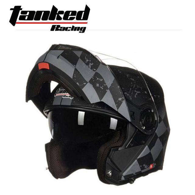 2019 New EU ECE Certification Tanked Racing Double lens Open Face Motorcycle Helmets ABS Flip Up Motorbike Helmet with PC visor 5