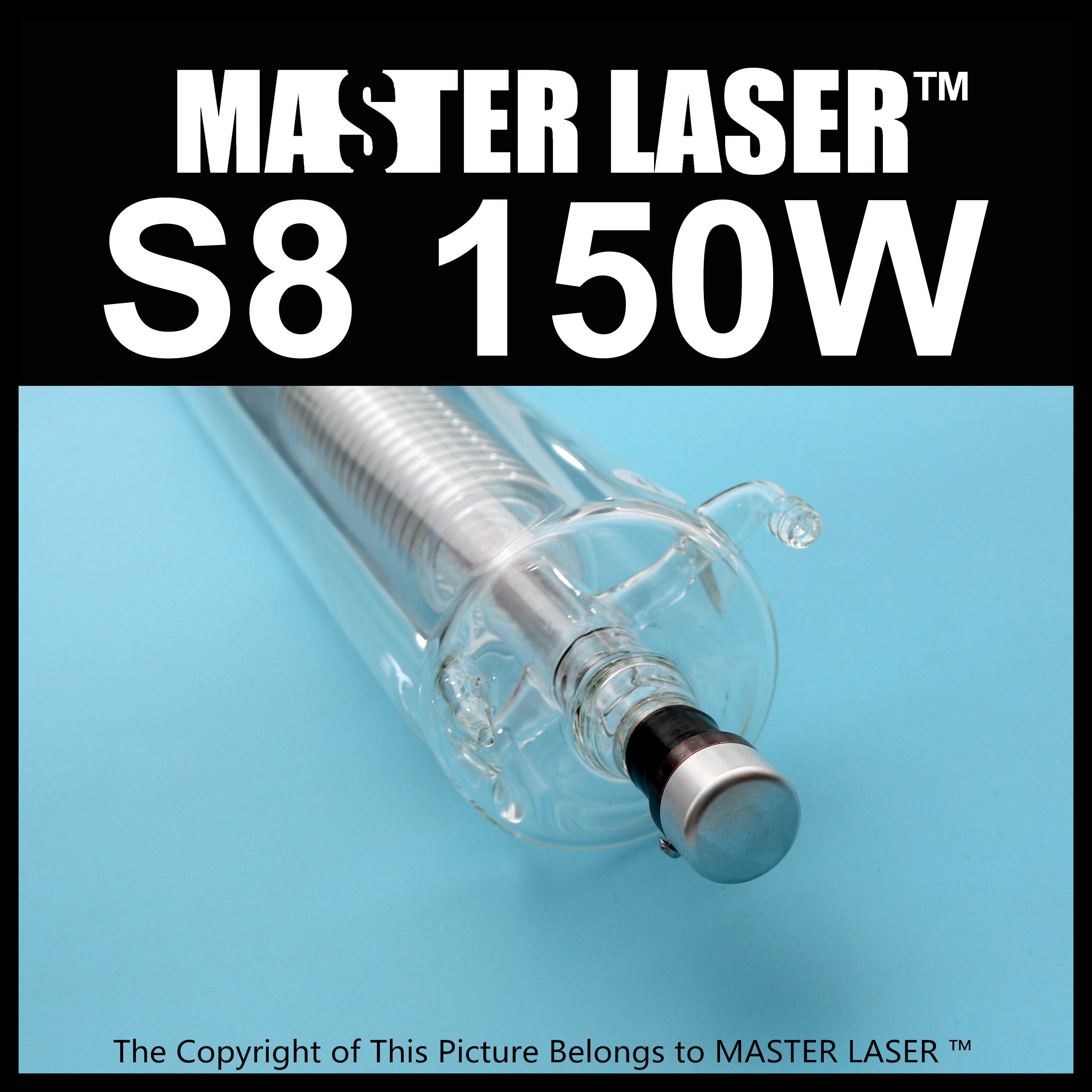 Reci  Laser Tube S8 150W Highest Power 180W Upgrade of Z8 for Cutter CNC Laser Engraver and Cutting Machine