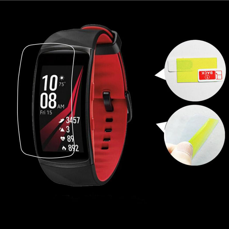 2pcs Anti-scratch Soft TPU Ultra HD Clear Protective Film Guard For Samsung Gear Fit 2 Pro Fit2 Pro Full Screen Protector Cover enkay clear hd screen protector protective film guard for sony xperia z3 l55t transparent