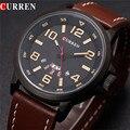 Curren 8240 marca de lujo de reloj de cuarzo de Cuero de Moda Casual relojes reloj masculino reloj de los hombres Relojes Deportivos