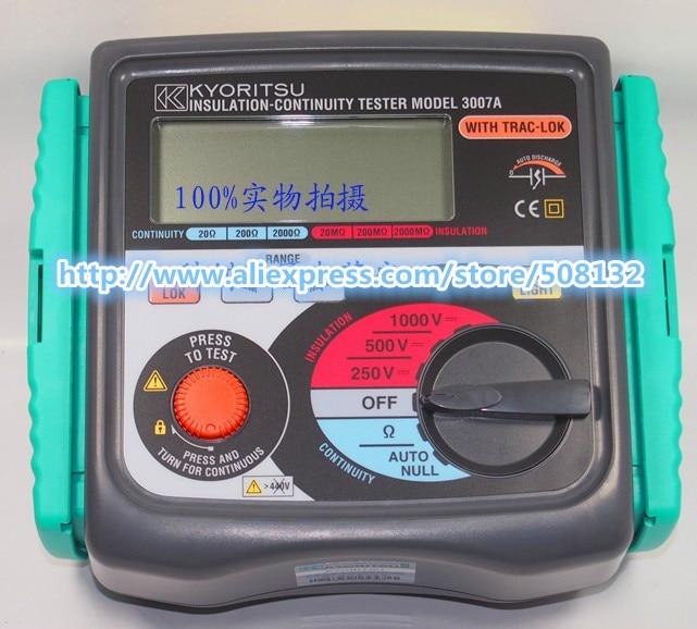 Kyoritsu 3007a Digital Insulation Continuity Tester 250v