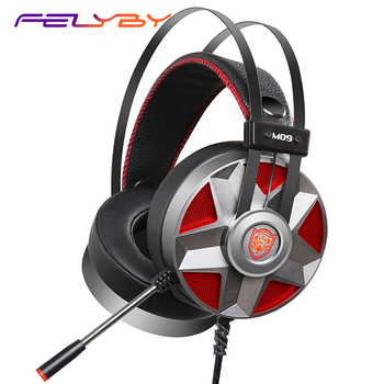 FELYBY M09 Dazzle Cool Effect Electric Gaming Online Control Intelligent Retractable Stainless Steel Head Beam Computer Headset