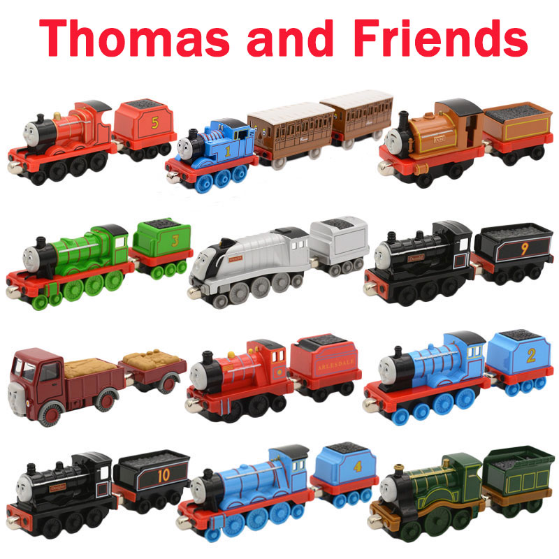 Diecasts Vehicles Thomas With Tender Thomas And Friends Magnetic Tomas Truck Locomotive Engine Railway Train Toys for Boys
