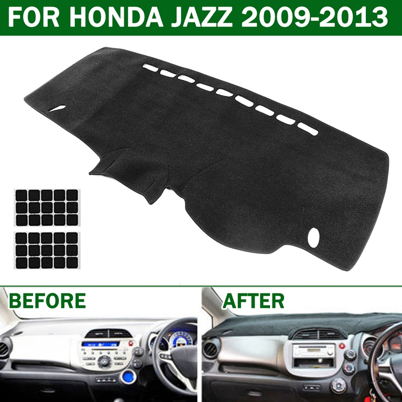 Autoleader Black Car Dashmat Dashboard Mat Dash Board Cover Pad for HONDA JAZZ for HONDA FIT 2009-2013 FOR Right Hand Drive for suzuki vitara right hand drive dashboard mat protective pad black red car styling interior refit sticker mat products