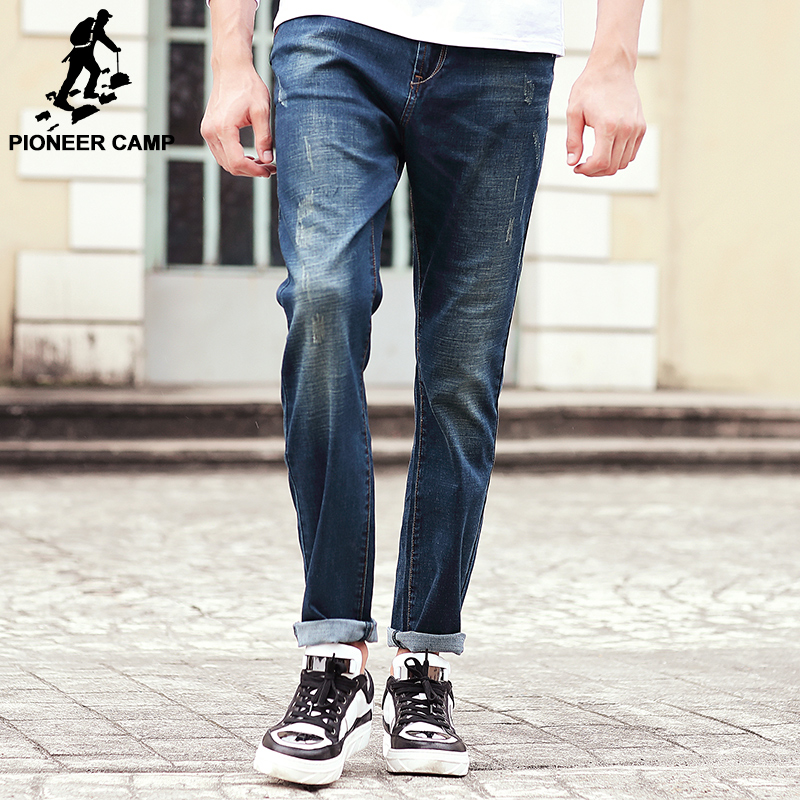 ФОТО Pioneer Camp 2017 new arrival brand clothing high quality male jeans fashion straight men pants Wuyou