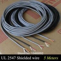 5 Mét Chất Lượng Cao UL 2547 28/26/24 AWG Multi-core Cáp Điều Khiển Dây Đồng Che Chắn Audio Cable Headphone Đường Tín Hiệu Cáp
