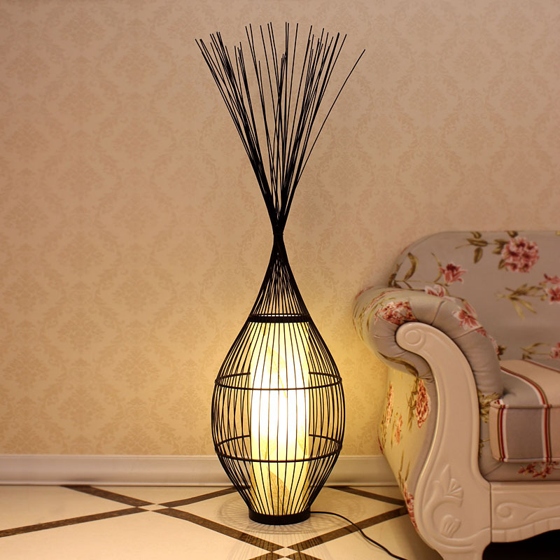 Chinese Altar Creative Living Room Coffee Table Floor Lamp Lighting Lamps  Bedroom Den Decorative Bamboo Bird ... Part 73