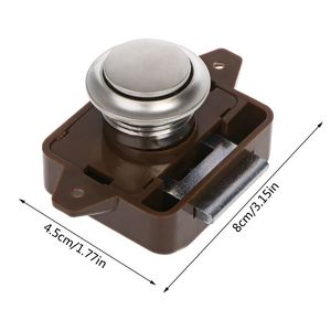 Image 2 - 1 Pc Car Push Lock RV Caravan Boat Motor Home Cabinet Drawer Latch Button Locks For Furniture Hardware Accessories qiang