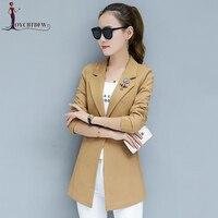 Blazer Feminino New Large Size S 3xl Spring Women Suit Jacket 2018 Autumn High Quality Slim Long sleeved Lapel Female Xy076