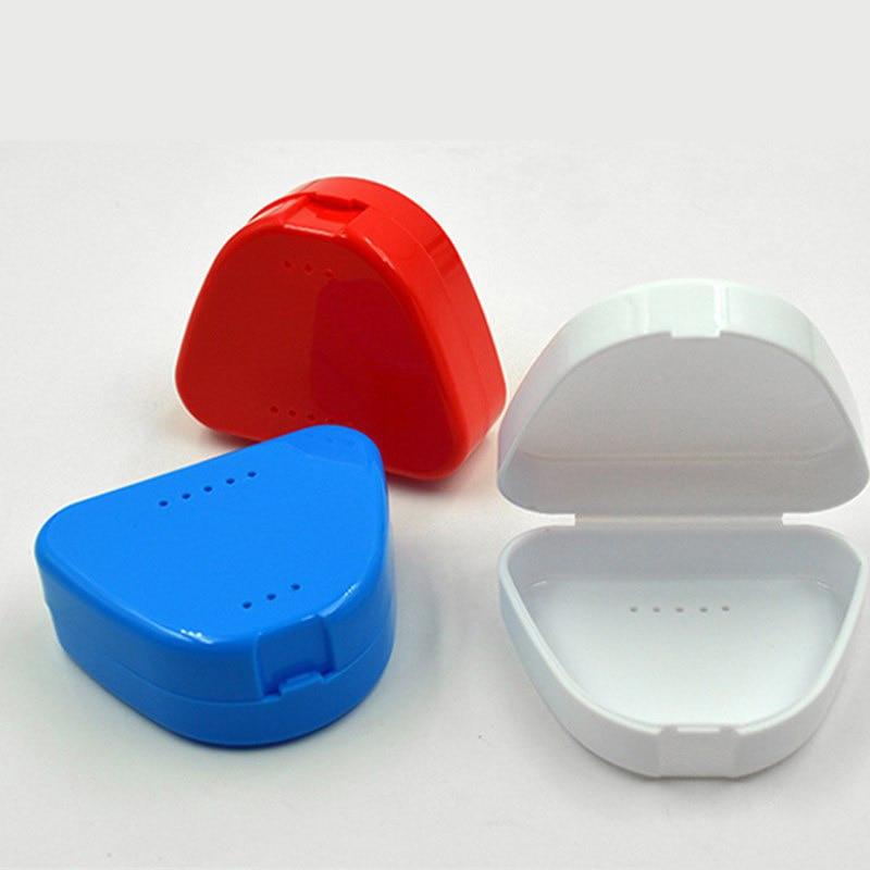 Urijk Mouthguard-Container-Holder Organizer Denture-Case False-Tooth-Storage-Box Plastic