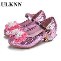 الفتيات حذاء الأميرة واحدة أعقاب الثلوج والجليد ألوان الزجاج شبشب الأحذية من 3 إلى 12 سنة فتاة جديدة جودة السلع 2018