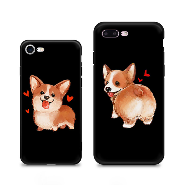 purchase cheap f659e 483b2 US $2.28 |For iPhone X Case UK Pet Big Butt Corgi Dog Phone Case For iPhone  8 7 6s Plus Red Peach Phone Back Cover Capa -in Half-wrapped Case from ...