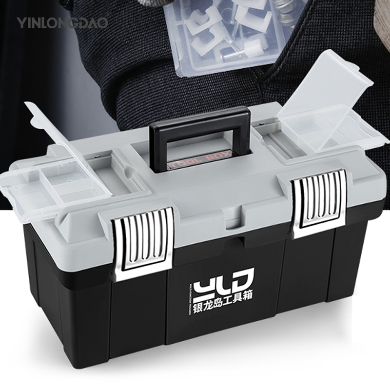 Multi-Function Toolbox Home Vehicle Maintenance Hand-Held <font><b>Art</b></font> Hardware Storage <font><b>Box</b></font> Repair <font><b>Tool</b></font> <font><b>Box</b></font> Case image