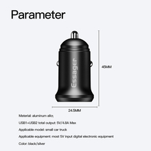 Essager 4.8A USB Car Charger For iPhone XS Samsung Xiaomi mi Fast Car Charging Charger For Mobile Phone Adapter Mini Car-Charger