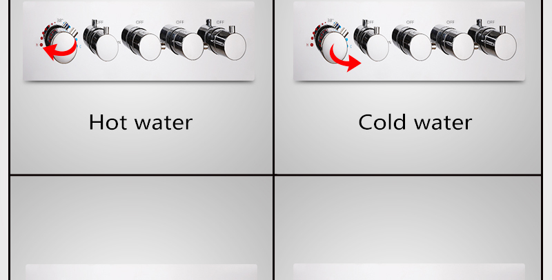 hm A High Quality 100% Brass Finish Chrome Thermostatic Shower Mixer Faucet, Shower Faucet, Hidden Water Round 5 Dial 4 Ways (20)