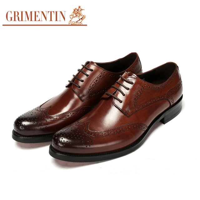 Grimentin Brand Uk Designer Men Oxfords Shoes Genuine Leather
