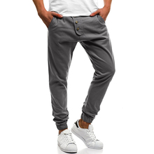 Large size 4XL New 2018 mens Fashion leisure long pants men personality pockets popular casual Cross-Pants full length 4 colors
