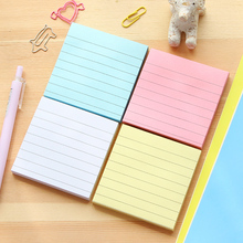 цена 4 pcs/Lot Classic memo pad Color paper Line sheets Diary planner sticky notes Message Stationery Office school supplies CM580 онлайн в 2017 году