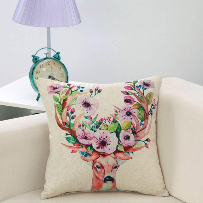 nueva funda de almohada de algodn retro de navidad la decoracin del hogar arte textil artesanal