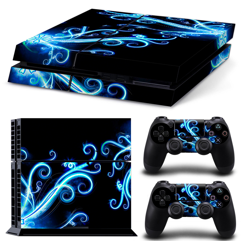 Custom Game Skin Sticker Decal Vinyl For Sony PS4 Playstation 4 Console And 2 Controllers Stickers