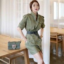 21894cc0c4 Verano nuevo temperamento de gama alta vestido 2018 Corea moda temperamento  de manga corta cintura retro