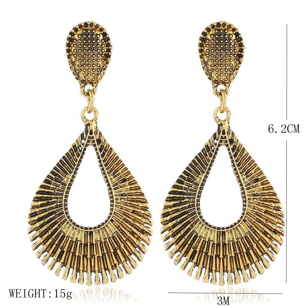 Boho Earring 2018 New Fashion Bohemia Ethnic Style Tibetan Silver Vintage Earrings  For Women Indian Jewelry ... 3950aeeb8156