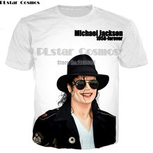 YX GIRL Fashion Men/Women T-shirt King of Rock and Roll Michael Jackson 3d print t shirt Boy singer star t shirt(China)