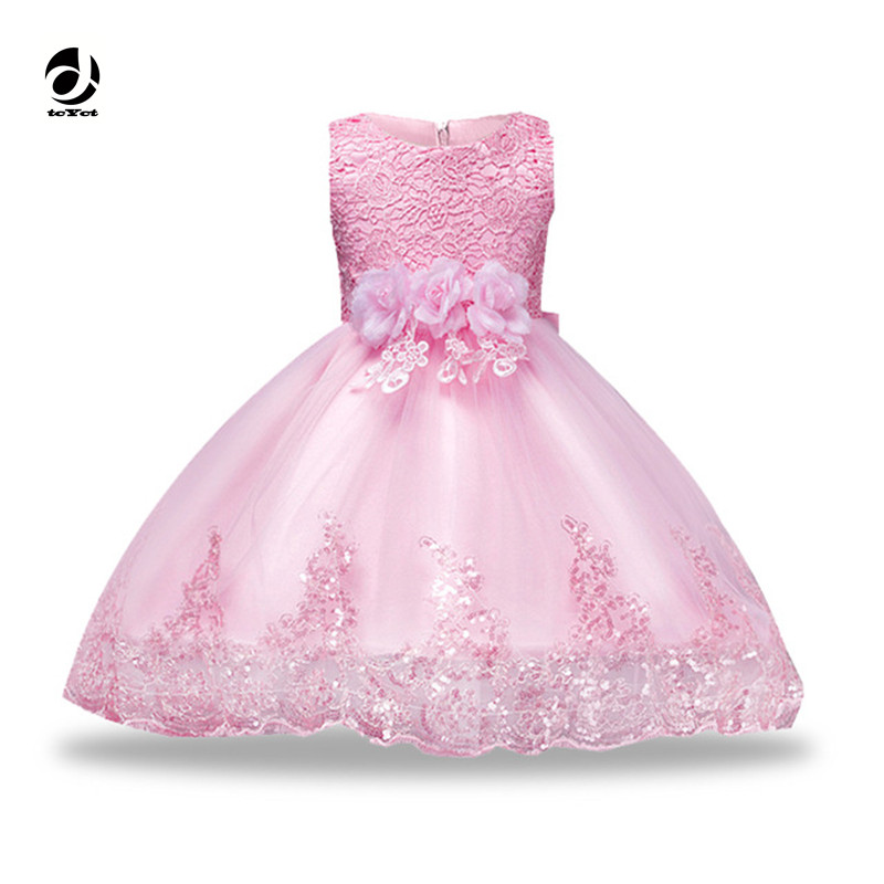 Little Girls Floral Dress New Girl Party Dress Girls Clothes Sleeveless 3-12 years Princess Dresses with Bow Dresses For Girls girls dresses floral 2017 new autumn princess dress 6 8 10 12 14 years girls cotton clothes kids party dresses for girl vestidos