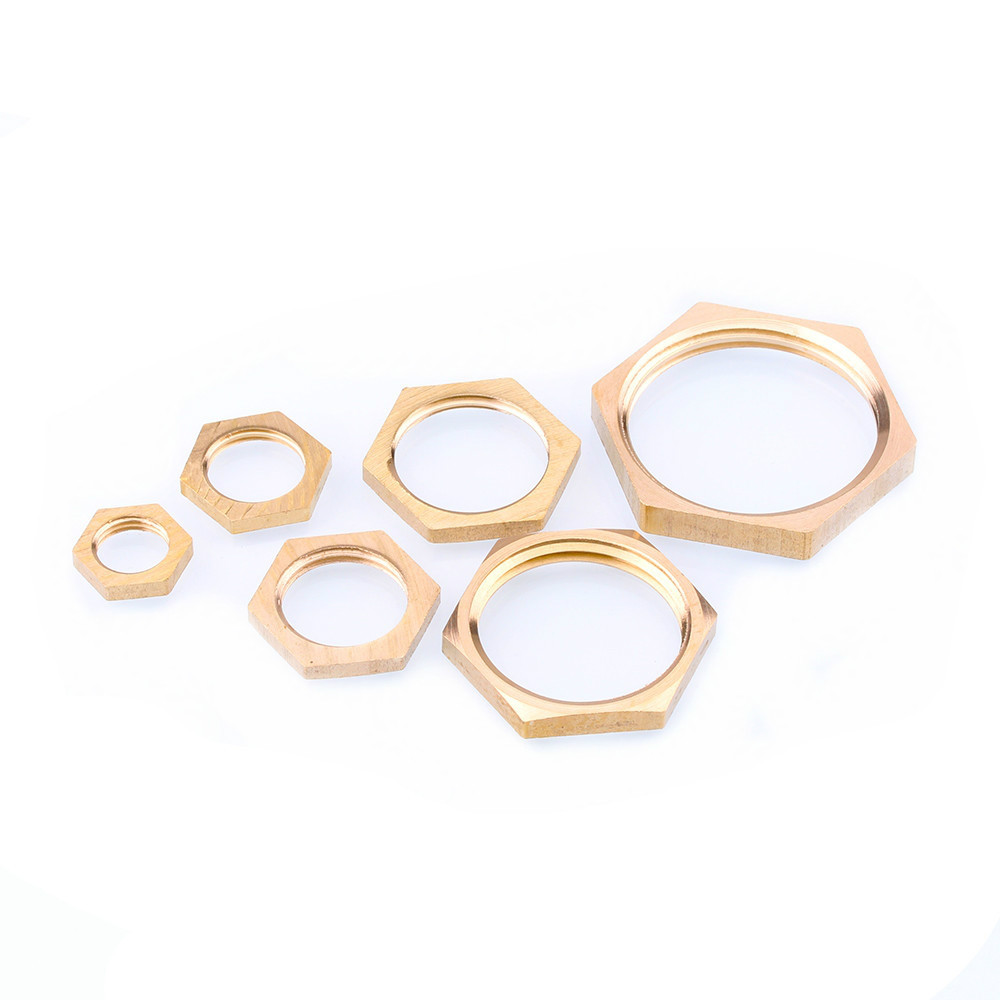 Brass Hex Lock Nuts Pipe Fitting M10 M12 1/8