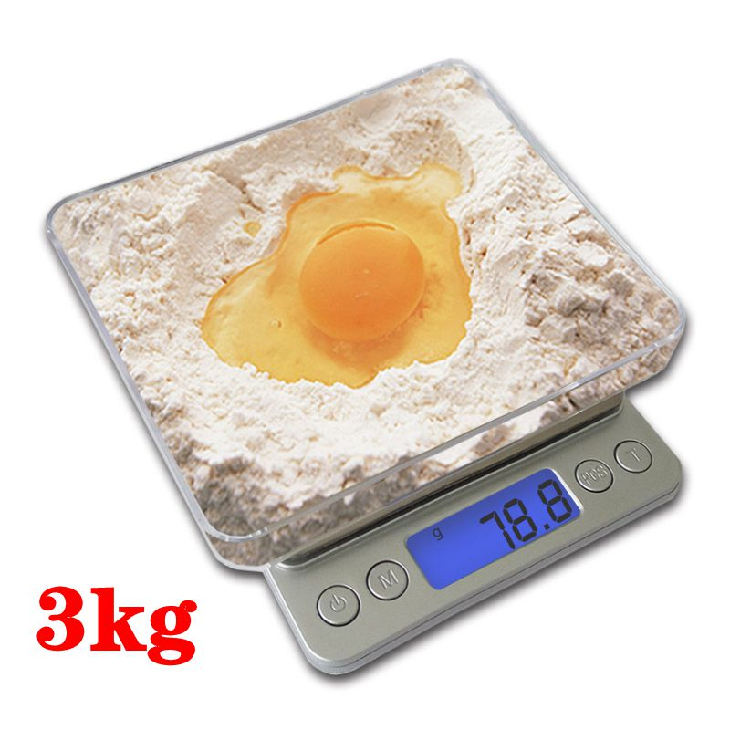 Kitchen Scales 3000g x 0.1g Mini Portable Digital for Pocket Scale 3kg 0.1 Precision Jewelry Electronic Balance Weight Gold Gram 500g x 0 01g digital precision scale gold silver jewelry weight balance scales lcd display units pocket electronic scales