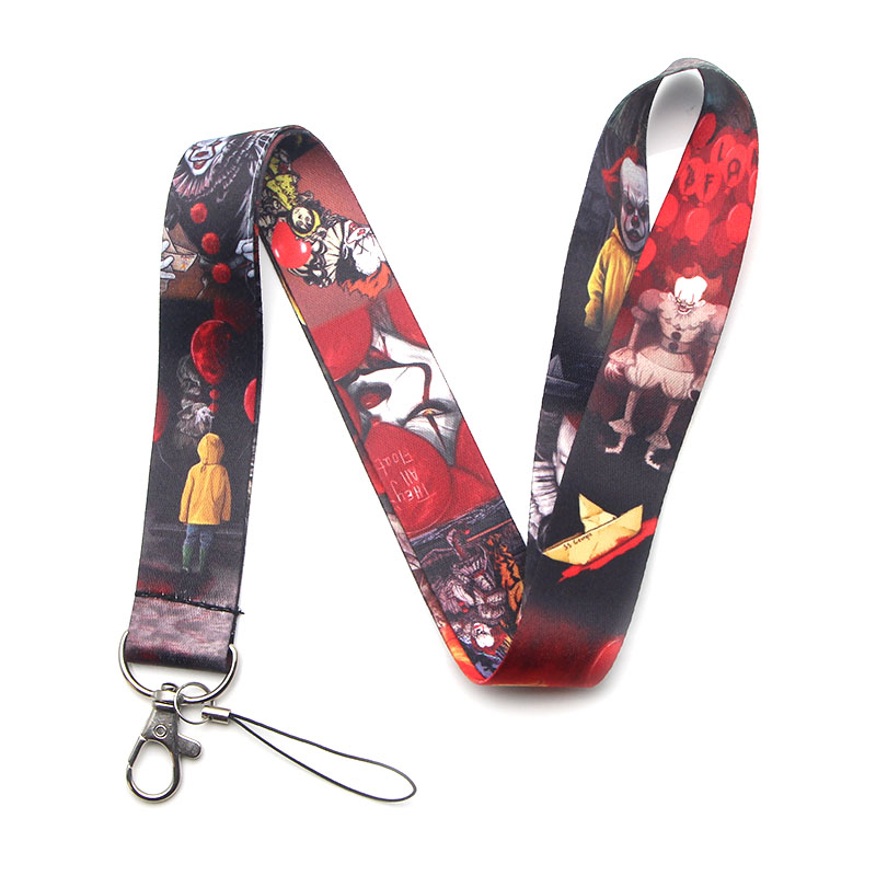 V224 Horror Movie Stephen Kings It Keychain Lanyards Id Badge Holder ID Card Pass Mobile Phone USB Key Strap