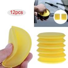 12 teile/los Auto Fahrzeug Wachs Polnischen Foam Schwamm Hand Weiches Wachs Gelb Schwamm Pad/Puffer für Auto Detaillierung Pflege waschen Sauber