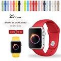 25 Цветов 42 ММ 38 ММ Силиконовые Спортивные Группы С Разъем Адаптера Для Apple Watch Band 42 мм 38 мм Ремешок Для iWatch Спорт Пряжка Группа
