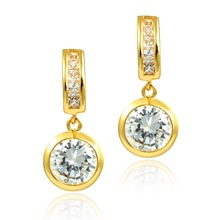 DORMITH Free shipping High quality Austrian Crystal square drop earrings for women Dangle Earrings fashion jewelry