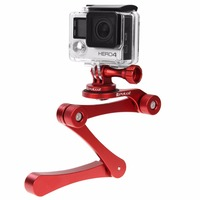 Multi function monopod support Low angle shooting adjustable folding selfie stick for Action Cameras Gopro Sjcam xiaoyi