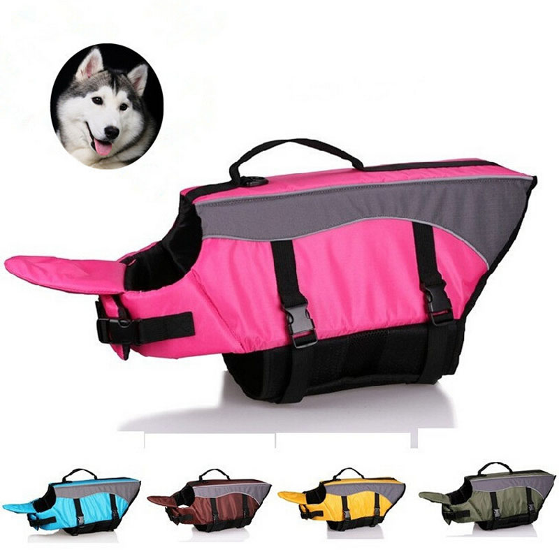 High Quality Large Dog Pet Life Jacket Breathable Mesh Safety Vest Swimwear Preserver H158