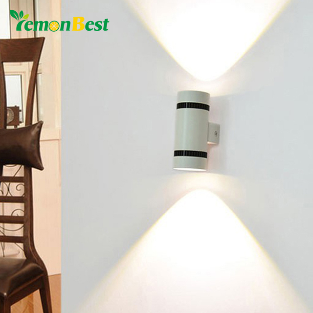 Modern 6W LED Wall Light Up Down Cylinder COB Wall Lamp Bedroom Dual Head  Light For