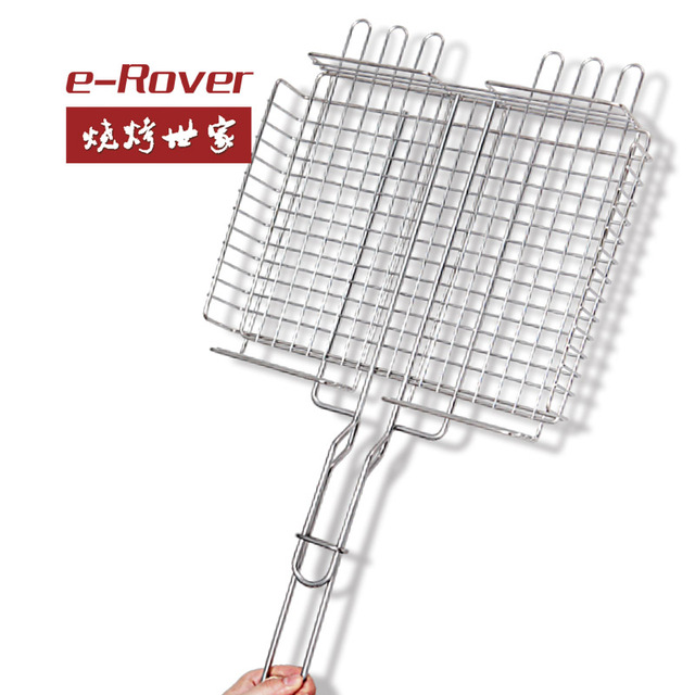 Stainless steel grill multifunctional Large BBQ grill tool fish toast bread cabob