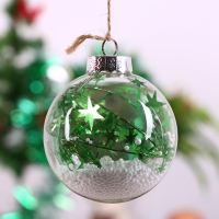 Christmas Tree Pendant Drop Ornament Ball Green Star White Foam Ball Xmas Window Ball Wedding Party