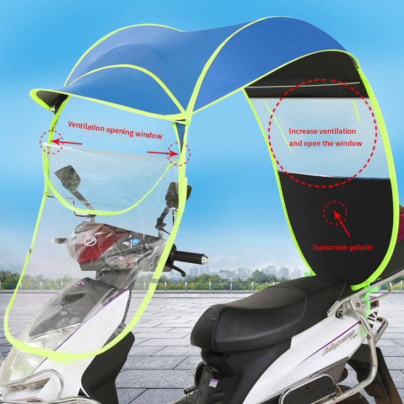 Polyester Motorbike Scooter Sun Shade Rain Cover Electric Vehicle Umbrella Mobility Raincoat Poncho Dust ProofPolyester Motorbike Scooter Sun Shade Rain Cover Electric Vehicle Umbrella Mobility Raincoat Poncho Dust Proof