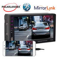 7 Handfree USB/FM/Aux Car MP5 Player Mirror Link For Android Phone Touch Screen With Camera Remote Control Bluetooth 2Din Radio