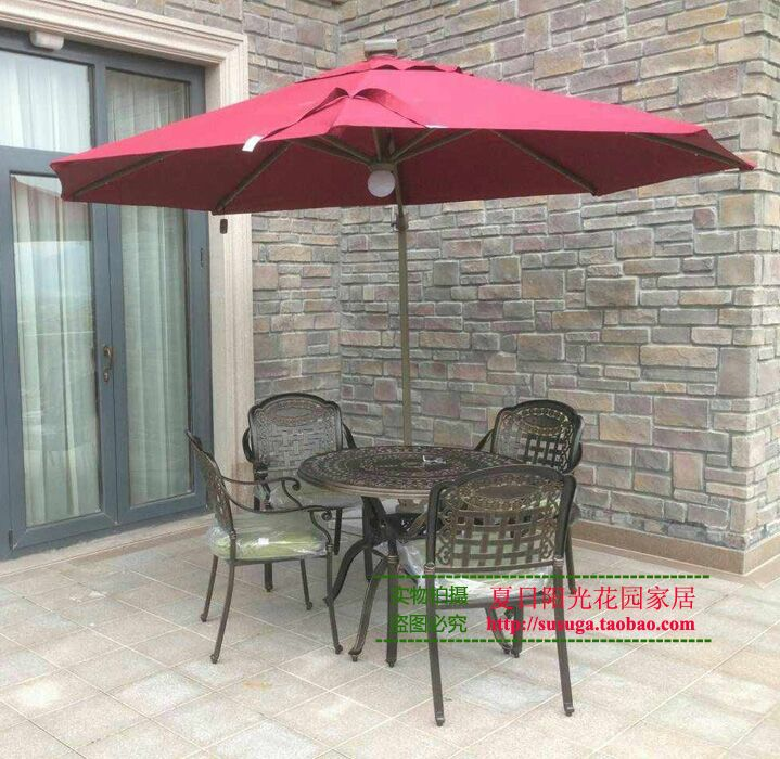 Sunny Garden Umbrellas Outdoor Umbrella Tables And Chairs Small Roman Side Patio Regulator Rotation Angle 360 In Bases