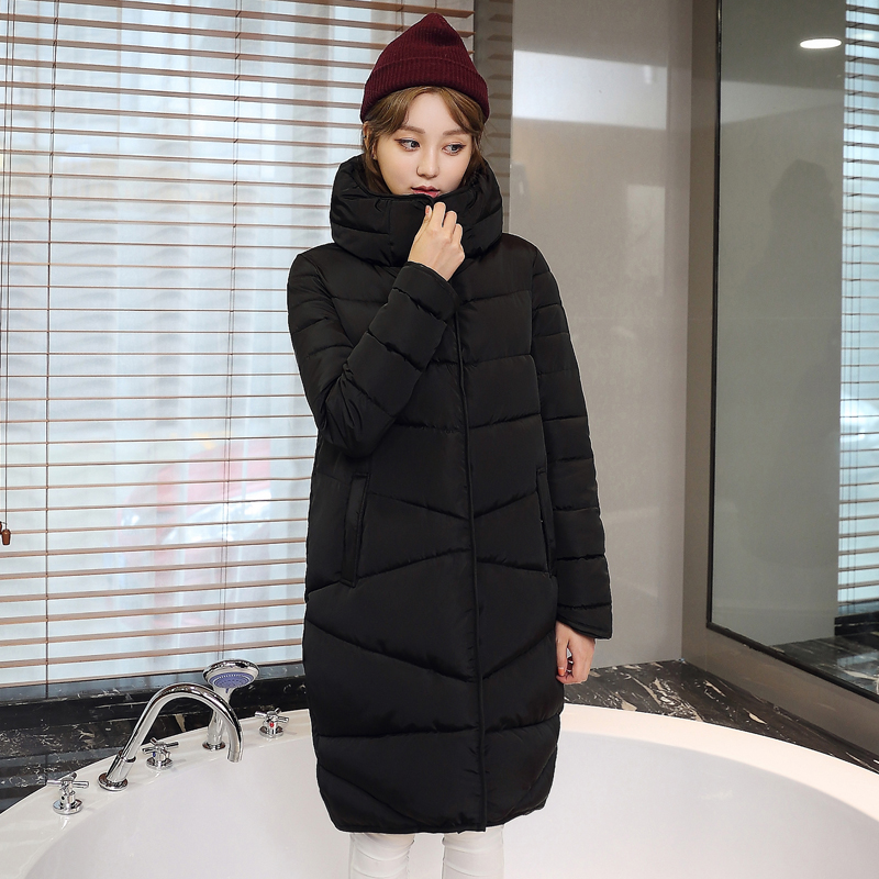 2016 Winter Fashion Long Coat Slim Thickened Turtleneck Warm Jacket Cotton Padded Zipper Plus Size Outwear