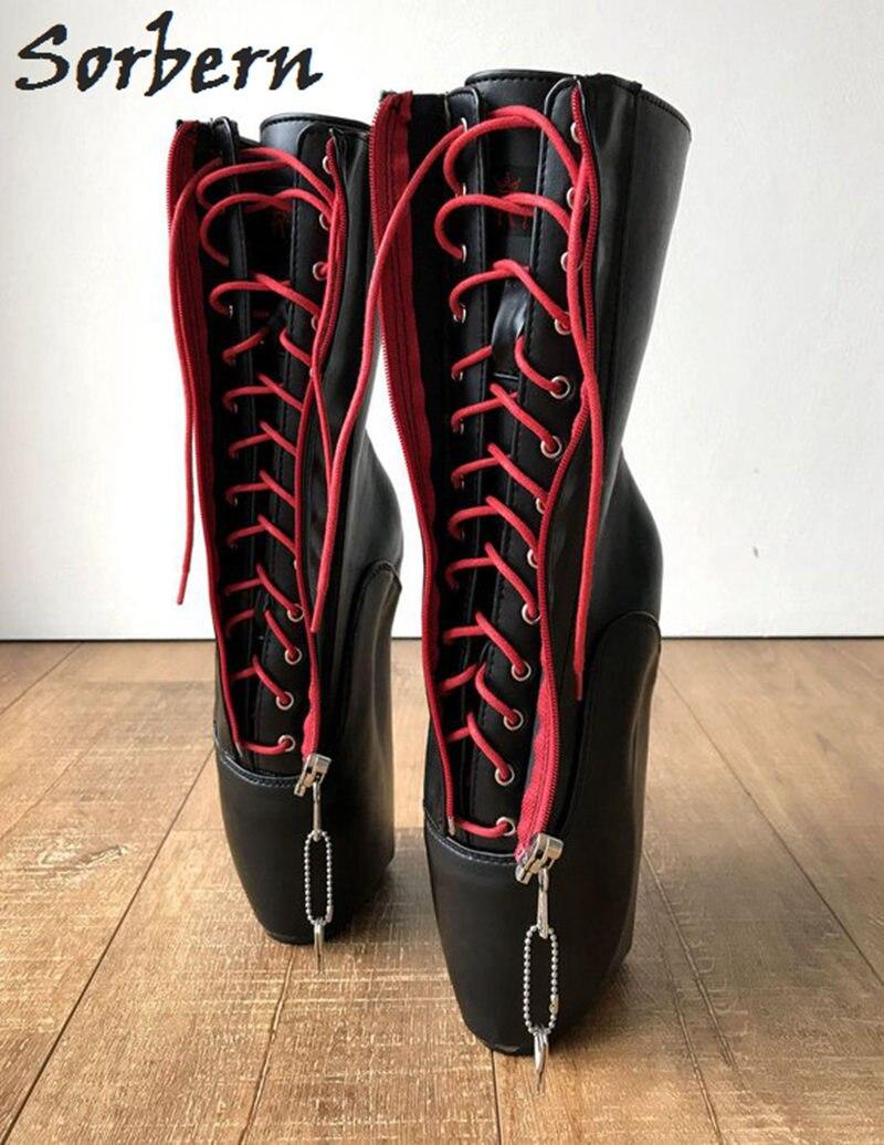 la vente de chaussures magasins populaires commander en ligne Ballet Haut Chaussures Rouge Colors Talons Noir Large Avec ...