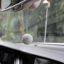 Подвеска автомобиля зеркало заднего вида Шарм Кристалл Bling шариковый висячий орнамент Стразы Декор интерьера хрустальный шар счастливый кулон
