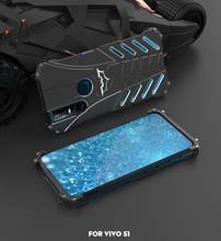 Hard Case For Vivo S1 V15 Pro Sports Metal Cover Superhero Aluminum Alloy Shockproof Protector Heat Dissipation+Straps+Stand