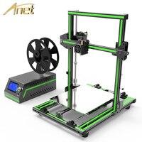 2018 Новинка! Anet E10 E12 3D принтеры широкоформатной печати Размеры Высокая точность Reprap Prusa i3 DIY 3D принтеры комплект с нити Бесплатная доставка